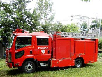 なな山に来た消防車.JPG