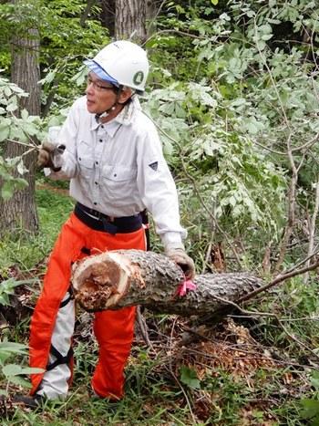 伐倒時の安全講習2.JPG