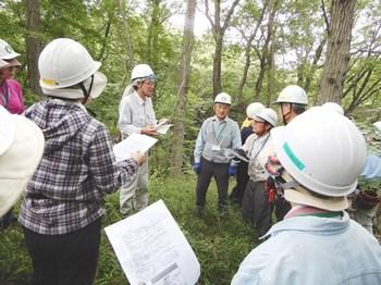 伐倒時の安全講習1.JPG