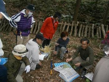講習会で標本の作り方を学ぶ.JPG